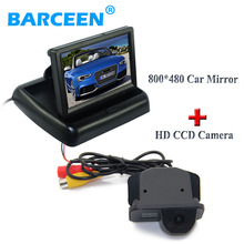 800*480 foldable car display monitor with 170 degree car rear reserve camera for Toyota Corolla (2007~2011) /Vios (2009 ~2010)
