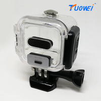 TuoWei For GoPro Session Mini Waterproof Housing Case Gopro Hero4 Session Camera Underwater Housing Box For