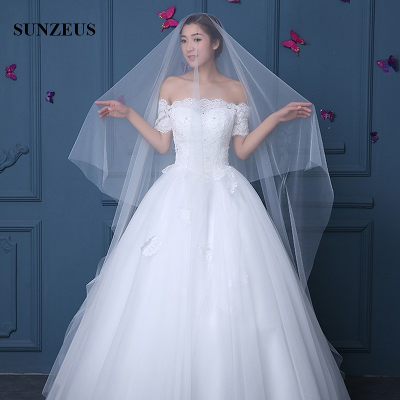 Wedding Hairstyles No Veil: Simple Pure Tulle Bridal Veils One Layer Ivory Face Veil