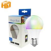 Bluetooth DOPROWADZIŁY Żarówki 4.5 W E27 RGBW Bluetooth 4.0 Inteligentne Zmiana Koloru Światła LED Ściemniania przez IOS/Android APP.