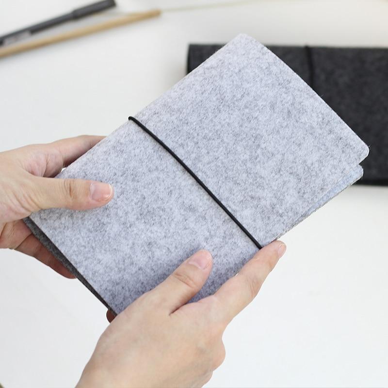 JIANWU Felt shell fabric note book loose leaf inner core A6 A7 notebook diary A5 plan