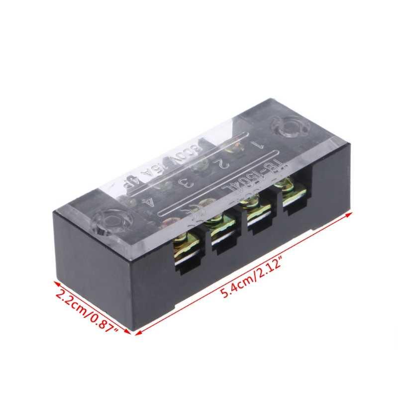 600V 15A 4 положения двойной ряд покрытый барьер винтовой клеммный блок полосы