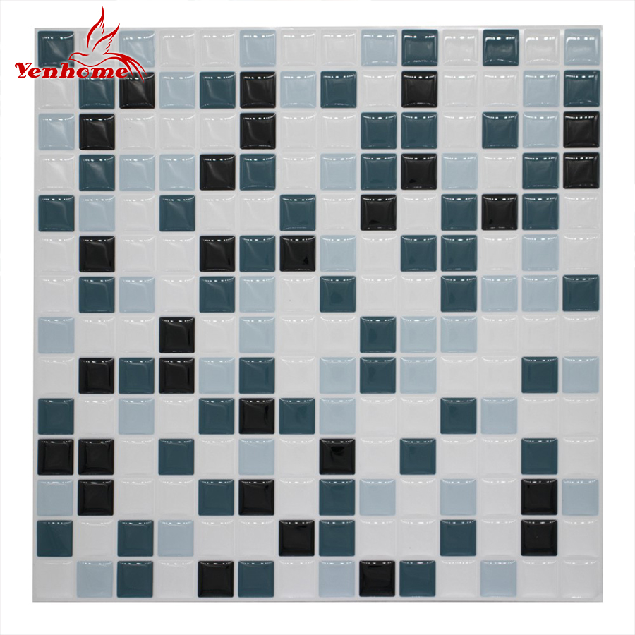 Us 19 26 29 Off 3d Peel And Stick Mosaic Tile Wall Decals Diy Kitchen Backsplash Tile Self Adhesive Wallpaper Home Decor Vinyl 3d Wall Stickers In