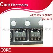 1000 sztuk/partia AP2112K 3.3TRG1 IC REG LDO 3.3V 0.6A SOT25 2112 AP2112