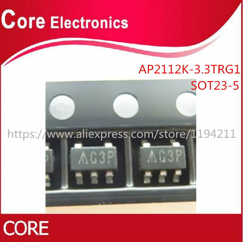 1000PCS/lot AP2112K 3.3TRG1 IC REG LDO 3.3V 0.6A SOT25 2112 AP2112-in Integrated Circuits from Electronic Components & Supplies
