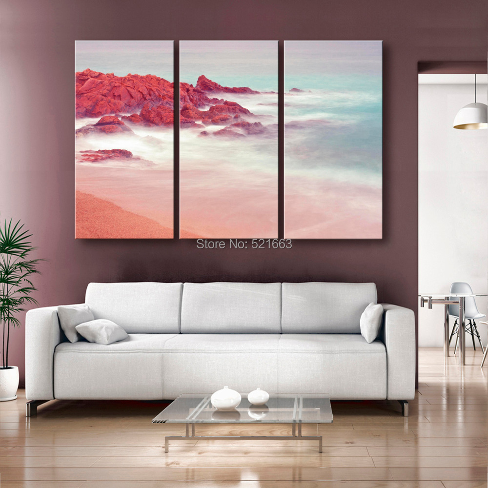 Hd Soil Painting Coastal Reef Decoration Painting Home Decor On Canvas Modern Wall Art Canvas Print