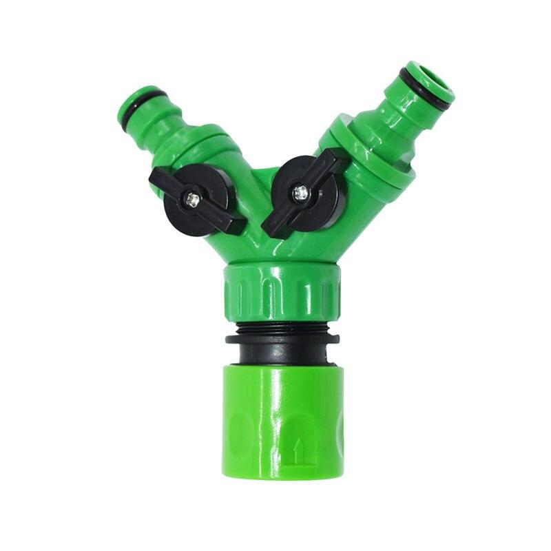 HTB1rLYqbrZnBKNjSZFKq6AGOVXaF Irrigation 2 way tap garden tap Irrigation valve Hose Pipe Splitter 2 Way Quick connector adapter 1pcs
