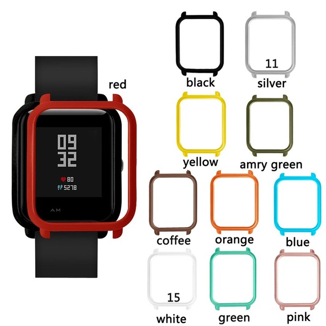 Smart Watch Protecter Case for Xiaomi Huami Amazfit Bip Bit youth Colorful Frame Slim PC Protective Cover shell for amazfit bip