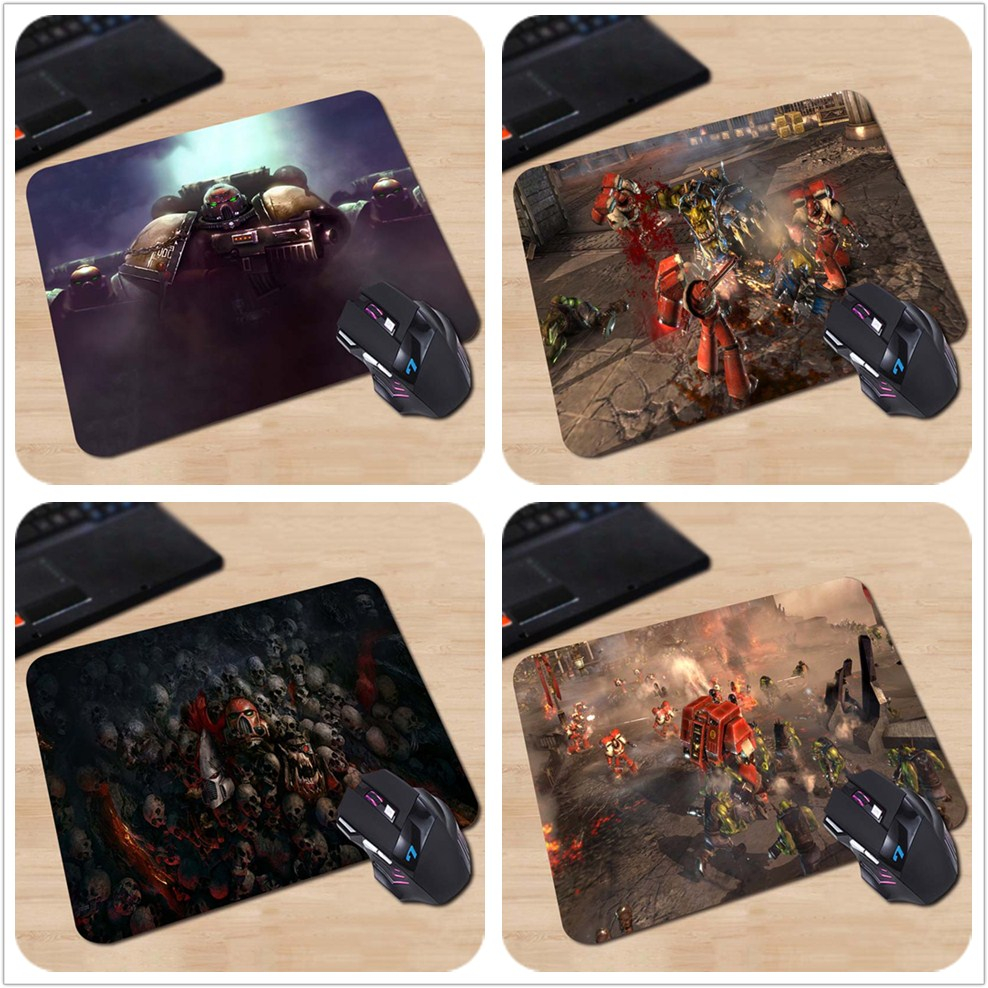 Games Series Dawn of War Warhammer Grunt Personalized Computer Notebook Mouse Mat Resistant Dirt 18*22cm and 25*29cm Mouse Pad