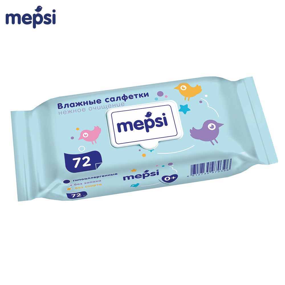 Wet Wipes MEPSI 0035 Hypoallergenic For children baby kids Alcohol-Free No smell Aloe mofem samba 150 0035 10