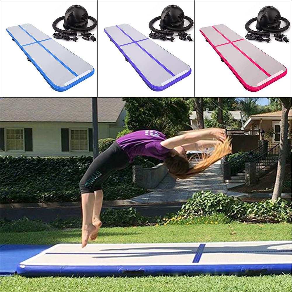 Inflatable Gymnastic Airtrack Mat Inflatable Trampoline Tumbling Yoga Gymnastics Training Taekwondo Cheerleading For Home UseInflatable Gymnastic Airtrack Mat Inflatable Trampoline Tumbling Yoga Gymnastics Training Taekwondo Cheerleading For Home Use