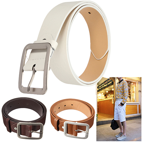 Rabbit Immortal Store Bluelans Men's Stylish Casual Waistband PU Leather Pin Buckle Waist Strap Business Belt