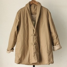 Зимой 2015 новые продукты, высокого класса оригинальный дизайн простой леди большие ярдов хлопка пальто