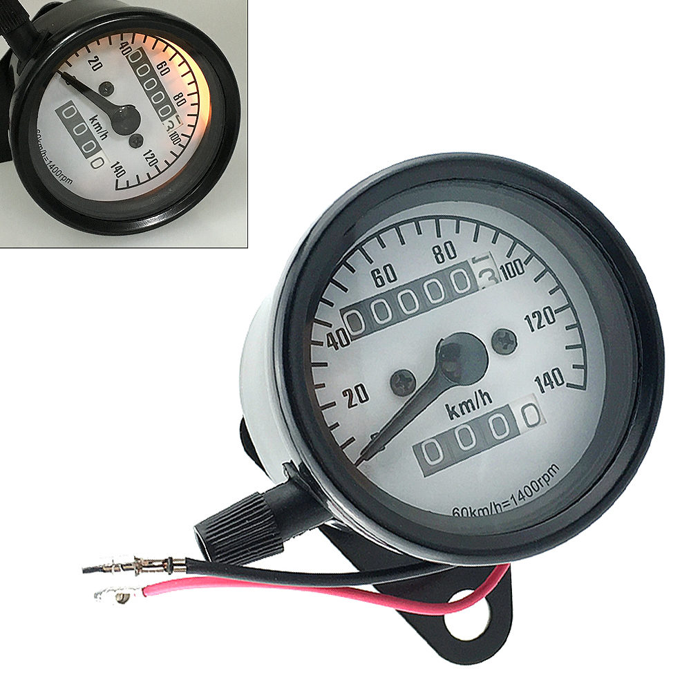 Universal Motorcycle Instruments 12V 140km h Dual Odometer Speedometer Gauge Speed Meter Night Light Backlight for Motorbike in Instruments from Automobiles Motorcycles