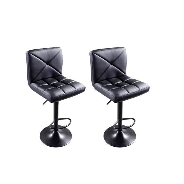 Awesome Us 75 89 2 Pcs Pu Leather Modern Adjustable Swivel Bar Stools Hydraulic Chair Bar Stools Coffee Black Us Shipping In Bar Chairs From Furniture On Machost Co Dining Chair Design Ideas Machostcouk