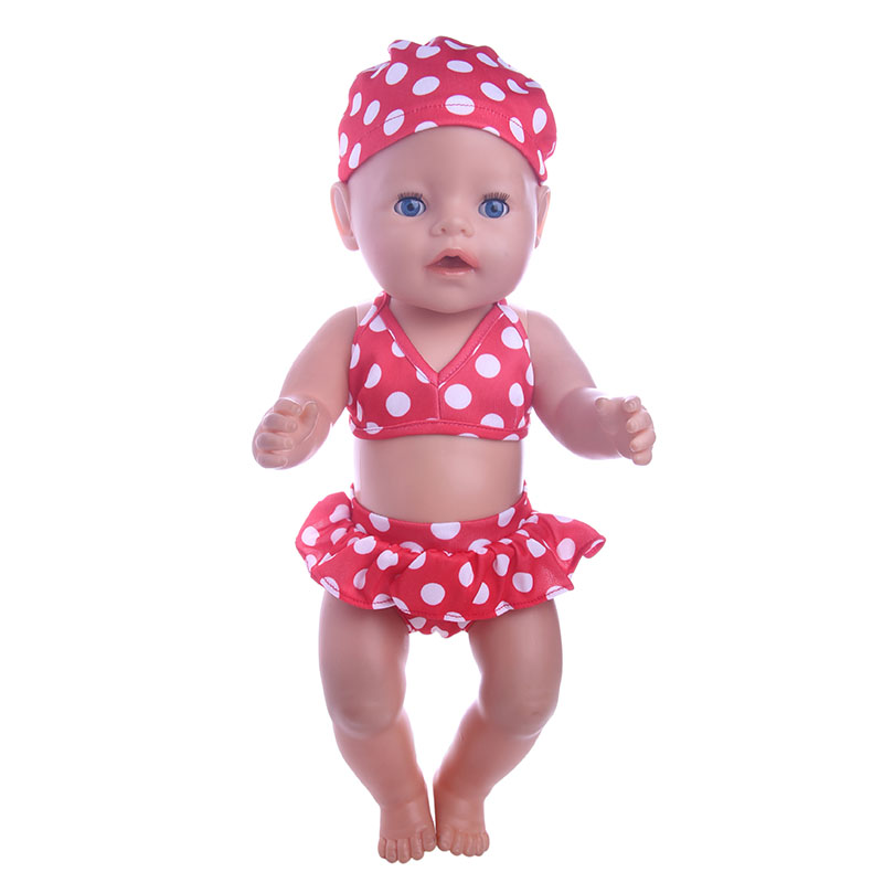 3pcs Swimsuit doll clothes Wear fit 43cm Baby Born zapf, Children best Birthday Gift(only doll clothes) AT830 2color choose leisure dress doll clothes wear fit 43cm baby born zapf children best birthday gift only sell clothes