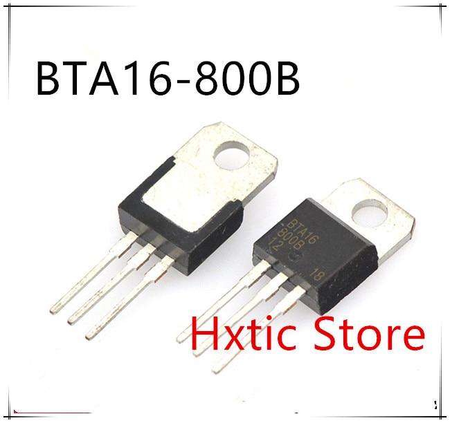 10pcs Free Shipping BTA16-800B BTA16-800 BTA16 Triacs 16 Amp 800 Volt TO-220 New Original