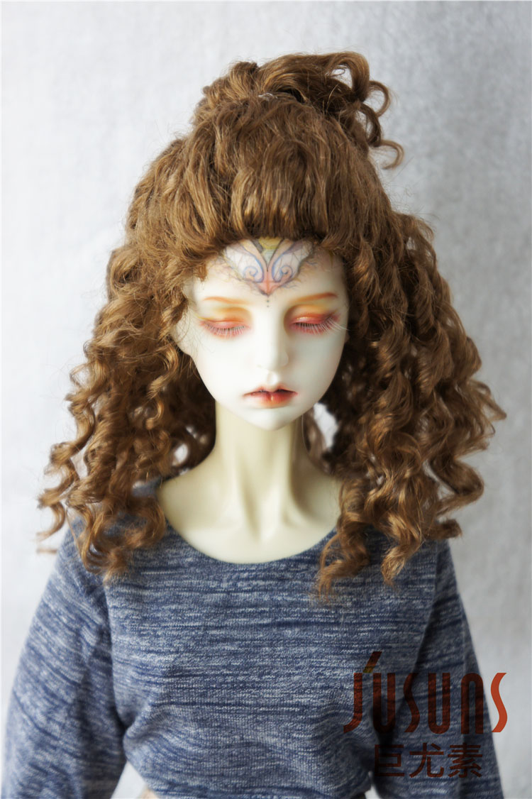 JD243 1/8 1/4 1/3 Fashion synthetic mohair doll wigs 6-7inch/7-8inch/8-9inch Teddy Bear curly BJD hair style jd145 msd synthetic mohair doll wigs 7 8inch long curly bjd hair 1 4 doll accessories