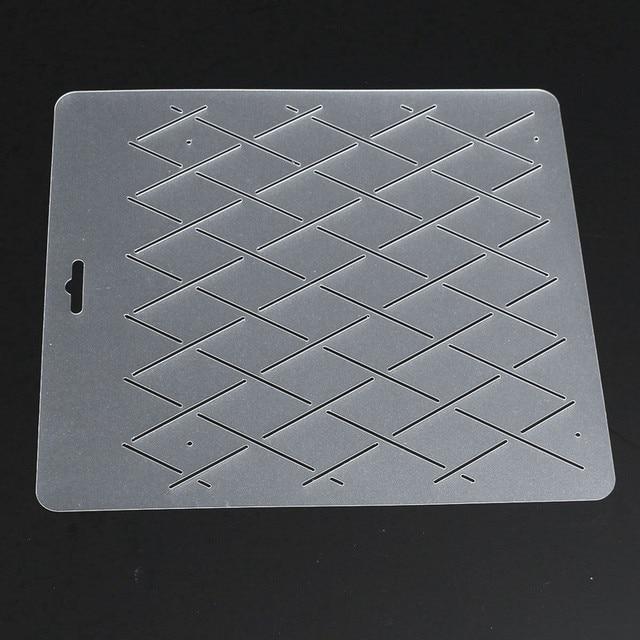 DIY semi transparente Rhombus forma stencil plástico Quilting ...