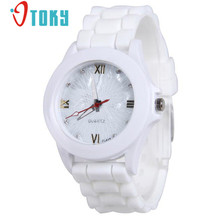 OTOKY Willby Women's Fashion Silicone Gel Jelly Watch Candy Color Rhinestone Sports Quartz Watches 161228 Drop Shipping