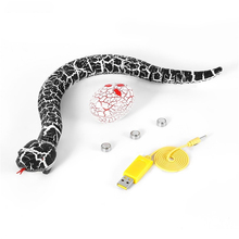 RC Remote Control Snake And Egg Rattlesnake Animal Trick Terrifying Mischief Toys Rechargeable Funny Joke Gift For Children