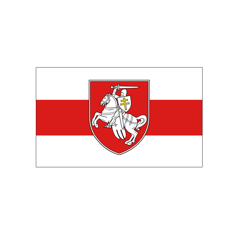 Belarus White Knight Pagonya Flag 3*5 ft <font><b>90*150</b></font> cm 100 d polyester Flying image
