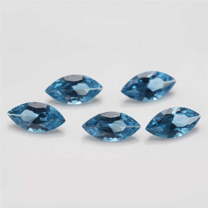 Tamanho 3x6 ~ 8x16mm 120 # Maquise Forma Brilhante Corte Espinélio Sintético Azul de Pedra Para a Jóia