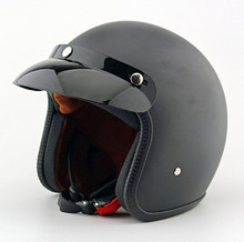 XL /L /M ABS Bright Black Motorcycle Helmets Unisex Men And Women Open Face