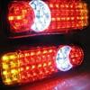Castaleca 2pcs 12V 24V Truck Trailer Rear Light Waterproof 36 LED Lamps Camper Indicator Reverse Van