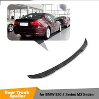 E90 Carbon Fiber CS Style Rear Spoiler Wing For BMW E90 / E90 M3 Saloon 3 Series Spoiler Lip rear trunk spoiler 2005 2011