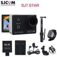 Оригинальный SJCAM sj7 звезды WiFi Ultra HD 4 К 2''touch Экран удаленного Ambarella a12s75 30 м Водонепроницаемый Спорт действий Камера автомобиль mini dvr