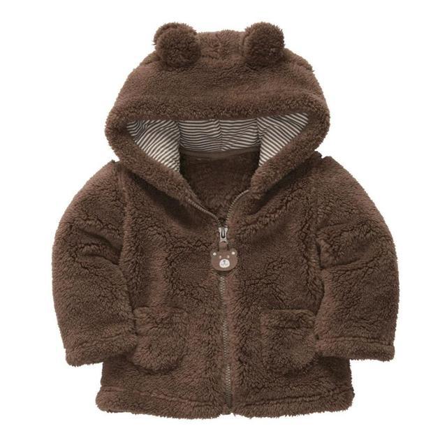 Autumn Winter Baby Girls Sweet Long Sleeve Hooded Thick Warm Jackets Kids Infant Princess Outerwear Coats ropa de ninas