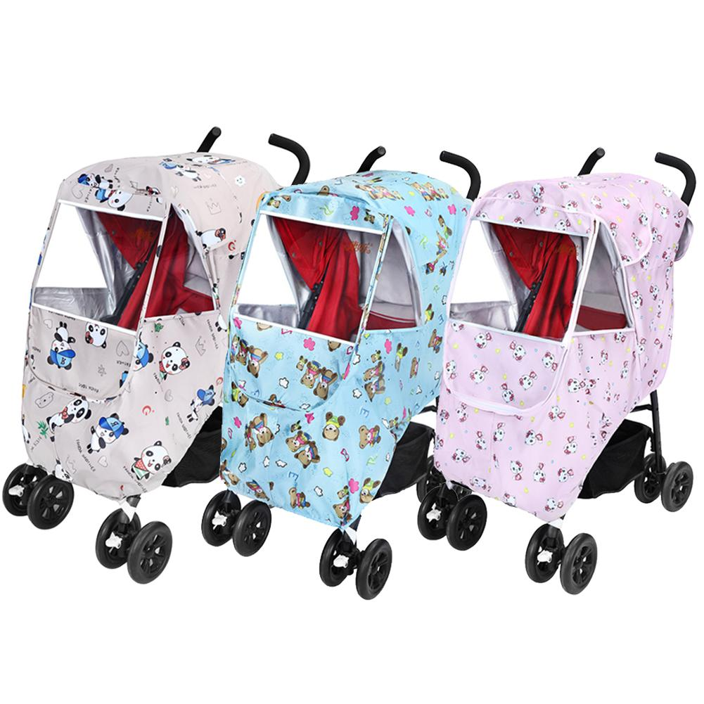 Baby Stroller Rain Cover Weatherproof Snow Cold Protection Anti-UV Universal Baby Strollers Pushchairs Raincoat Supplies