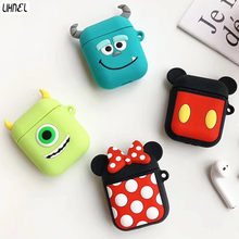 Mickey Minnie Mike Sully Silicon Case for Airpods 1 2 Bluetooth Wireless Earphone Case Charging Box Cartoon Protect Cover(China)