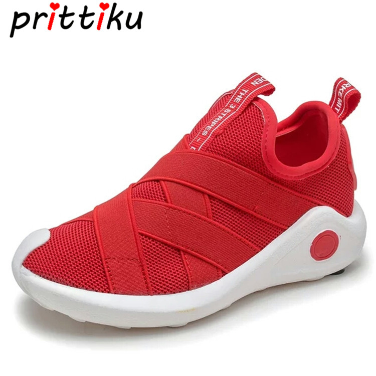 Spring 2018 Toddler Girl Boy Knit Mesh Breathable Sneakers Little Kid Red Black Trainers Big Children Sport School Running Shoes soccer shoe toddler little kid big kid synthetic leather upper rubber soles 31 44casual outdoor indoor light weight running