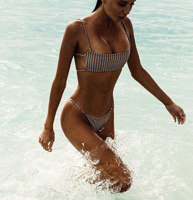 yellow striped bandeau bikini set strap swimsuit women swimwear backless bikinis 2018 swim suit stripe badpakken zwempak vrouwen stylish strapless bandeau blue and white stripe bikini set for women