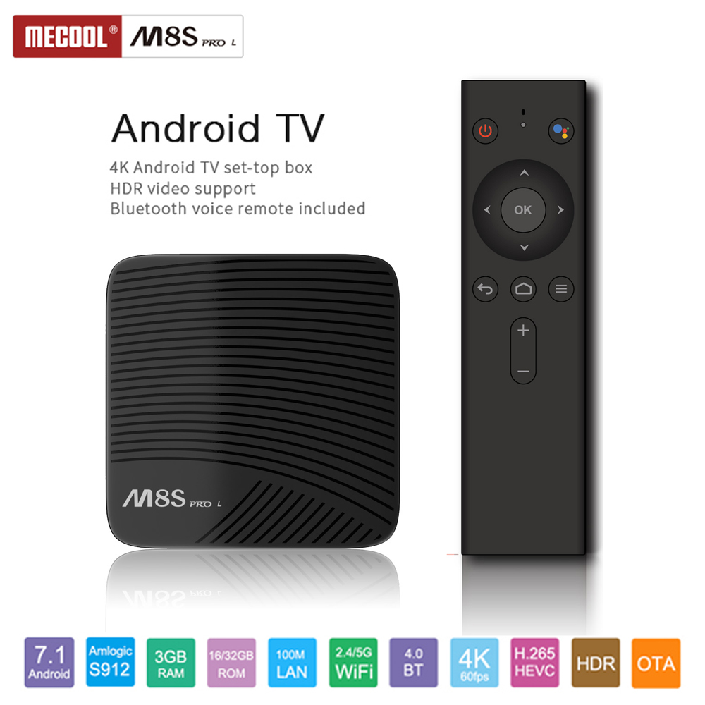 MECOOL M8S PRO L Android 7.1 TV Box Amlogic S912 3G/16G 3G/32G HD 4K 2.4G/5G WiFi BT4.1 HDR10 Voice Remote Control Media Player m8s pro l google voice smart tv box android 7 1 amlogic s912 3g 16g 3g 32g tvbox youtube 4k ultra hd movie bt media player dhl 5