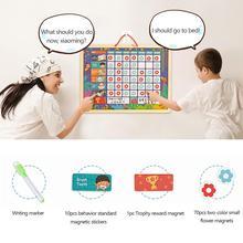 Обучающая Магнитная диаграмма ответственности, игровая доска для детей, детская деревянная доска для записей, игрушка с магнитами