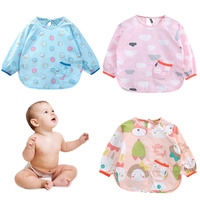 Baby Bibs Cartoon Waterproof Baby Apron Newborn Cute Printing Saliva Towels Infant Cotton Burping Cloth For