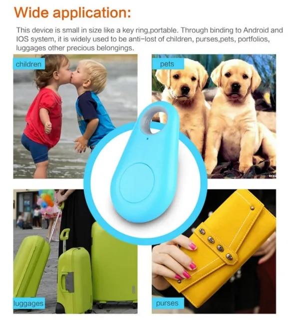 5 Colors Wireless Bluetooth 4 0 Mini Tracker Anti-Lost Anti-Theft Bluetooth Locator For Kids Pet Dog Car Motorcycle Tracker