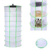 Mesh Collapsible Hanging Net Black Drying Rack Wardrobe Clothes Basket Laundry Storage Bag Herb Bud Drying Homeware Layers