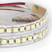 5 m LED Luz de Tira 5050 v DC 12 5050 RGB LED Tira Flexível Branco, 60 branco quente 60leds/m 120 LEDs/m IP20 Não À Prova D' Água