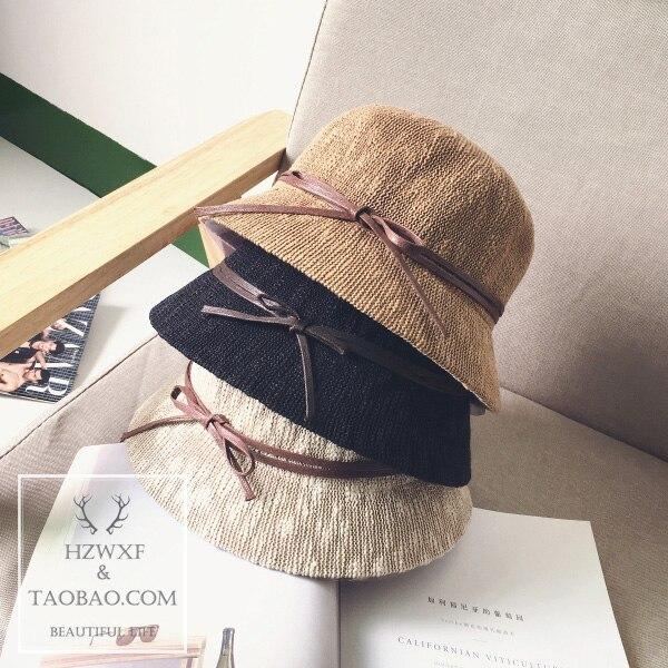New Fisherman caps with Bow Girl hat 2018 Fashion Cap Women Sun Hat Bowknot Foldable Women Hat with sombrero de la playa