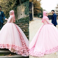 kejiadian Ball Gown Muslim Wedding Dresses