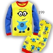 Мальчик одежды весна пижамы осень комплект хлопок мультфильм набор мода детские