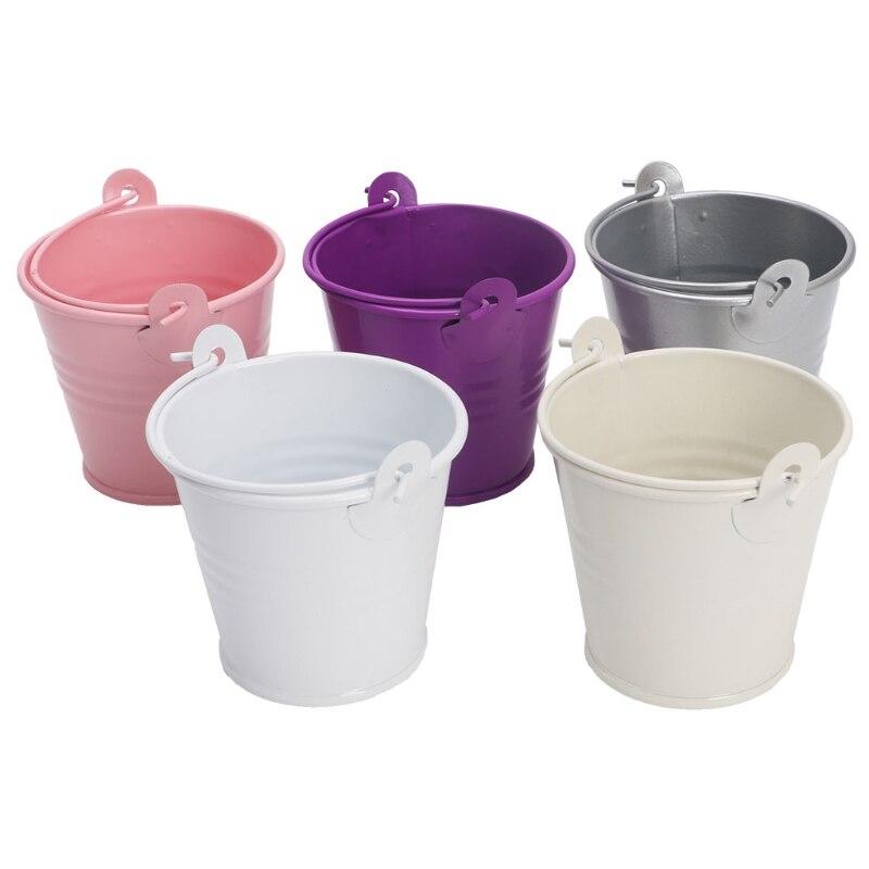 Metal Barrel Pots Plant Decor Flower Pots Succulent Bucket Home Office Decor