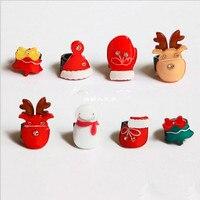 Code Collection 8pcs Set Mini Cute Christmas Hair Claw Snowman Reindeer Hair Crabs Hair Accessories For