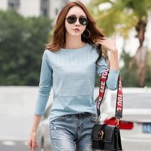 shintimes Vintage T Shirt Long Sleeve Women  Cotton 2019 Embroidery T-Shirt Female Tshirt Femme Camiseta Mujer Plus Size