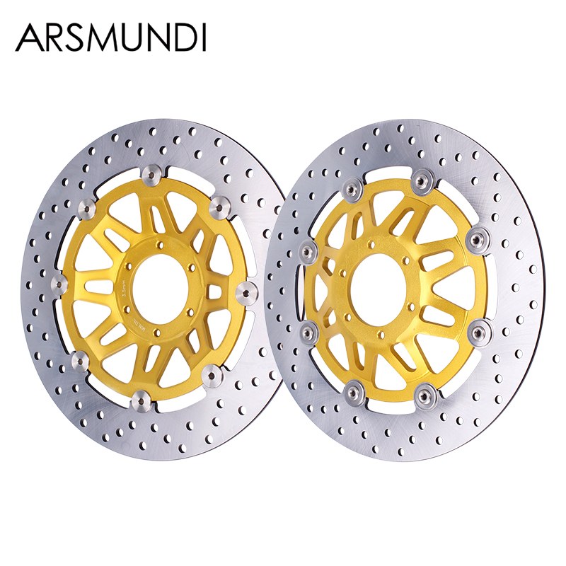 Front Brake Disc Plate Brake Disks For Honda CB400 92-98 1992 1993 1994 1995 1996 1997 1998 Motorcycle 2 pieces motorcycle front disc brake rotor scooter front rear disc brake rotor for honda cb400 1994 1995 1996 1997 1998