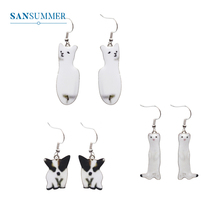 SANSUMMER New Cute Earrings Womens Cartoon Dog Alpaca Animal Fashion Exquisite Elegant Jewelry Gift 3352